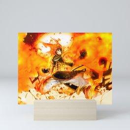 Natsu on Fire Mini Art Print