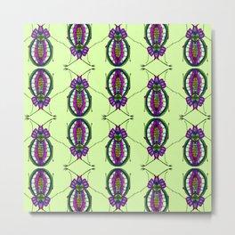 Bejeweley Beetle - Cool lime Metal Print