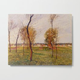 A Meadow In Moret 1901 By Camille Pissarro | Reproduction | Impressionism Painter Metal Print
