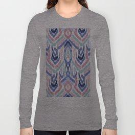 Ikat Ikat Pastel Wandering Long Sleeve T-shirt