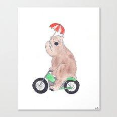 The Bear Rides Canvas Print