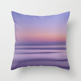 Sunset Ocean Seascape beautiful light of  purple and pink Throw Pillow