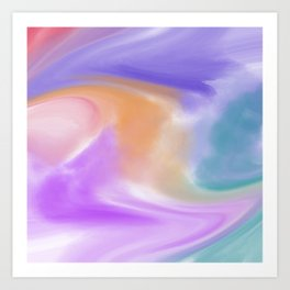 Abstract Liquid Watercolor Art Print