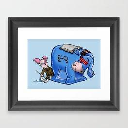 E-9 and Friend Framed Art Print