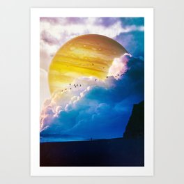 Blue Beach Art Print