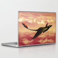 hiccup Laptop & iPad Skins featuring Flying - Hiccup and Toothless by BBANDITT