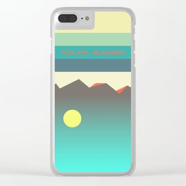 Polar summer - upside down world Clear iPhone Case