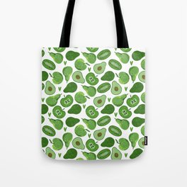 Green fruits and vegetables Tote Bag