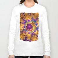 fireflies Long Sleeve T-shirts featuring Dance of the Fireflies by thea walstra