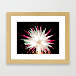 Geometric Firework 9 Framed Art Print