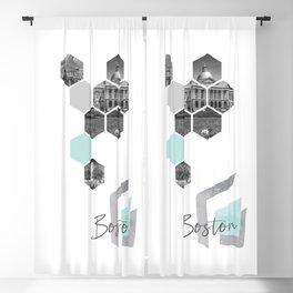 Urban Design BOSTON Cityscapes Blackout Curtain