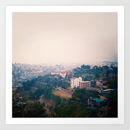 DALAT IN THE FOG Art Print