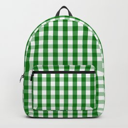 Christmas Green Gingham Check Backpack