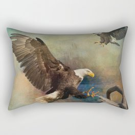 Eagles Are Landing Rectangular Pillow