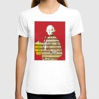 mozart T-shirts featuring Wolfgang Amadeus Mozart by Marko Köppe