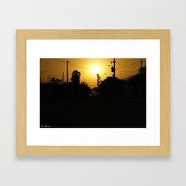 Anthropic Sunset Framed Art Print