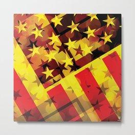 Proud American. USA flag. Unique design. Metal Print