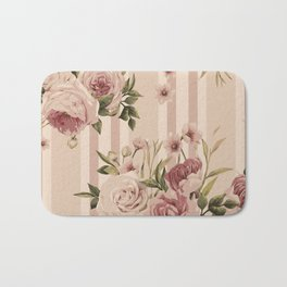 Flowers and Stripes Two Bath Mat