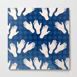 Waving Hands Metal Print