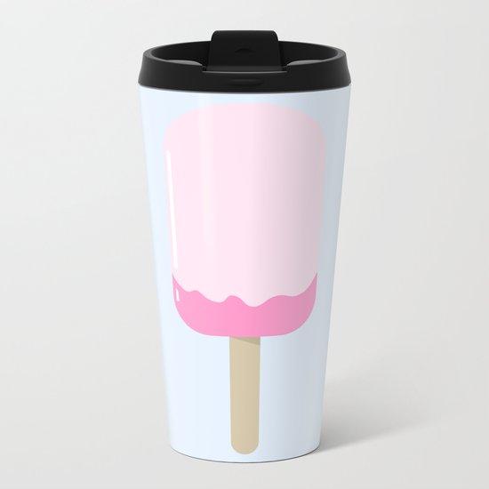 Melting Rose Popsicle Metal Travel Mug