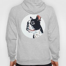 Boston Terrier Dog Portrait Hoody