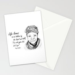 Maya Angelou Quote - Take Life by the Lapels - Art and Apparel Stationery Cards