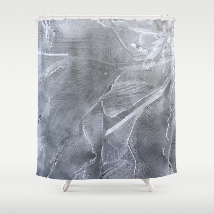 Spring Puddle Frost Shower Curtain