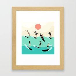 Party Wave Framed Art Print