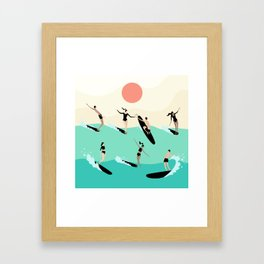 Party Wave Framed Art Print