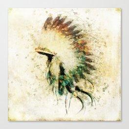 Native American Boho Headdress Sideview Canvas Print
