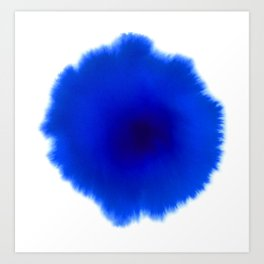 Blue splash Art Print