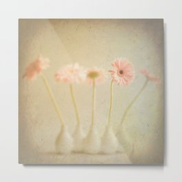 Textured Flowers (vintage flower photography) Metal Print