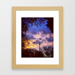 As the clouds roll in Framed Art Print
