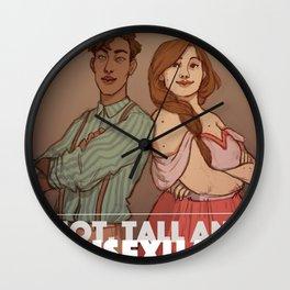 Hot, tall and bi Wall Clock