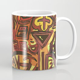 Orange Symbols Coffee Mug