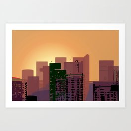 Sunset over San Francisco Art Print