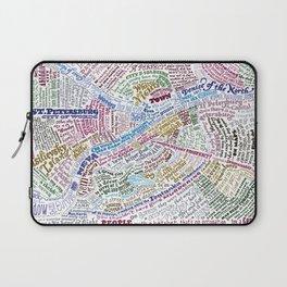 St. Petersburg Literary Map Laptop Sleeve