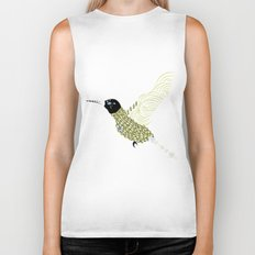 Abstract Hummingbird Biker Tank