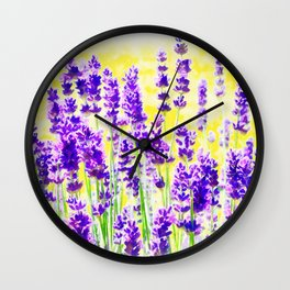 Lavender Watercolor Wall Clock