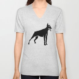 I have Connected the Doberman Pinscher Doggy Dots! Unisex V-Neck
