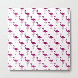 Sparkly flamingo Pink glitter sparkles pattern Metal Print