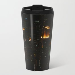 Chicago Skyline Light Show (Chicago Architecture Collection) Travel Mug