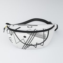 Kandinsky - Black and White Abstract Art Fanny Pack