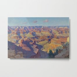 Grand Canyon Landscape Painting by William R. Leigh Metal Print