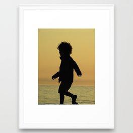 boy silhouette Framed Art Print