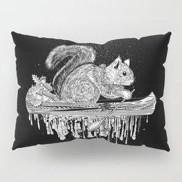 Squirrel in a canoe Pillow Sham