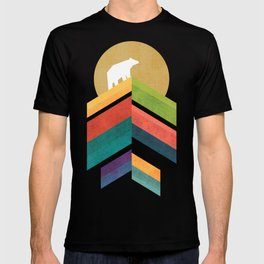 Lingering mountain with golden moon T-shirt