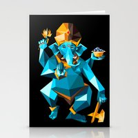 ganesha Stationery Cards featuring Ganesha by Gaetano Leonardi