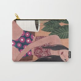 Sitting on the floor Carry-All Pouch