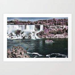 Niagara Falls HDR and Infrared  Art Print